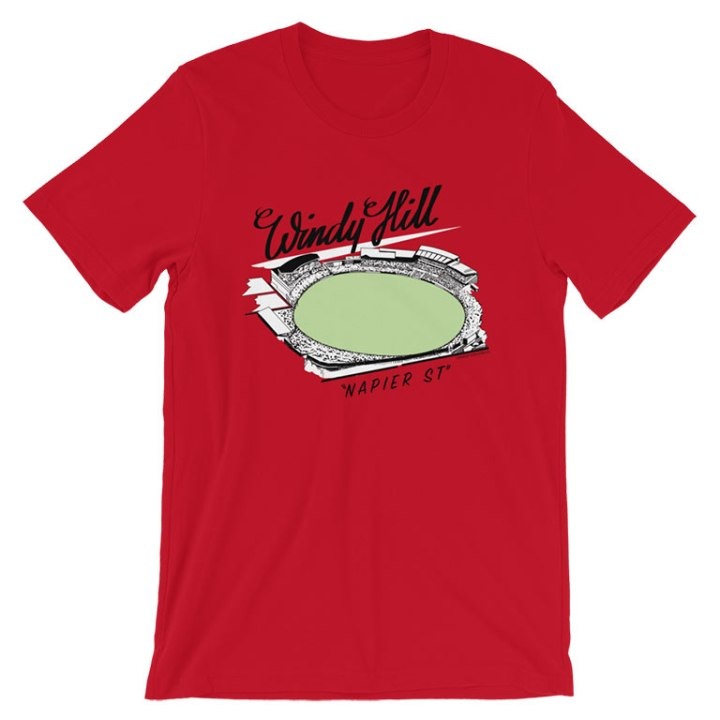 windy hill red t-shirt