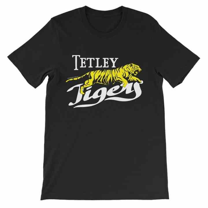 tTetley tigers retro footy t-shirt black
