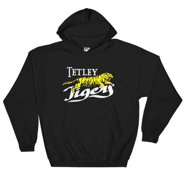 Tetley Tigers retro hooded sweatshirt