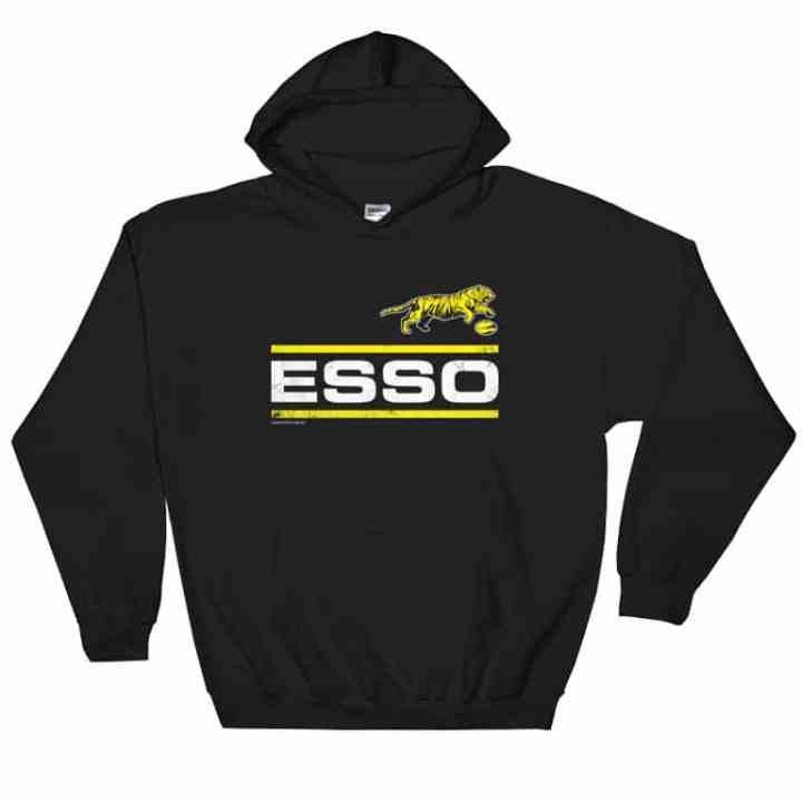 esso retro footy hoodie black