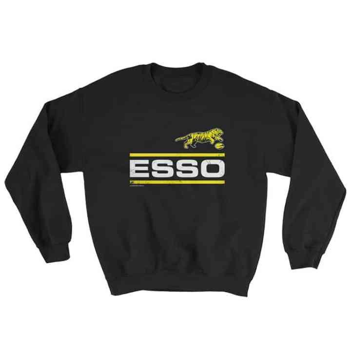 esso retro footy sweater black