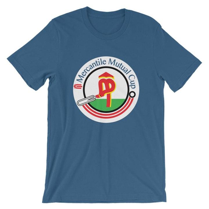 mercantile mutual cup cricket shirt blue