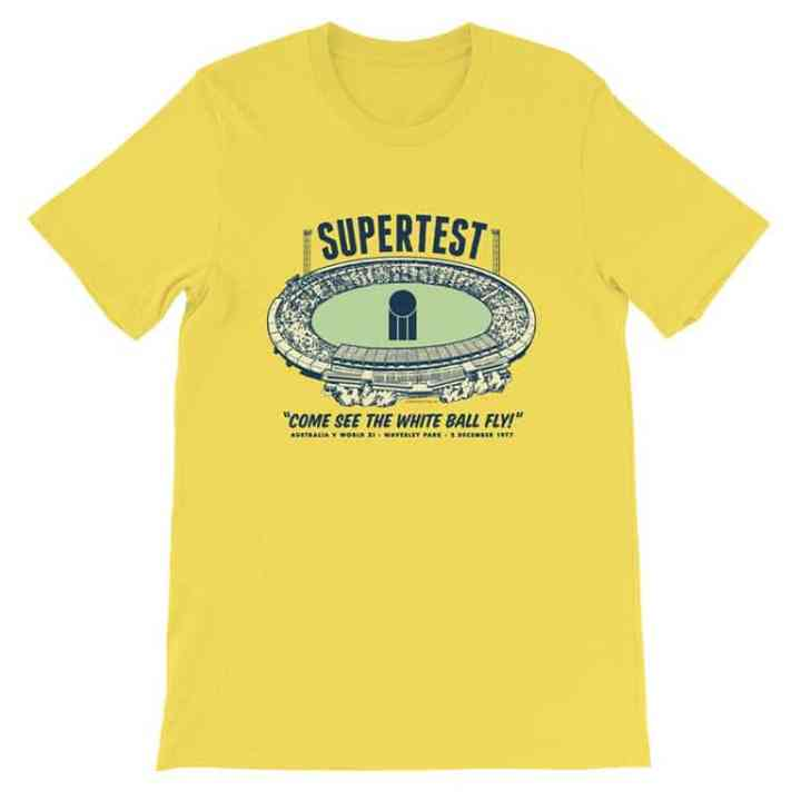 world series cricket yellow tshirt