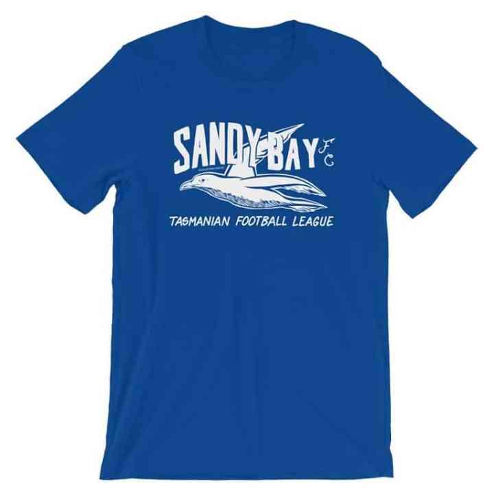 sandy bay football club vintage tshirt blue