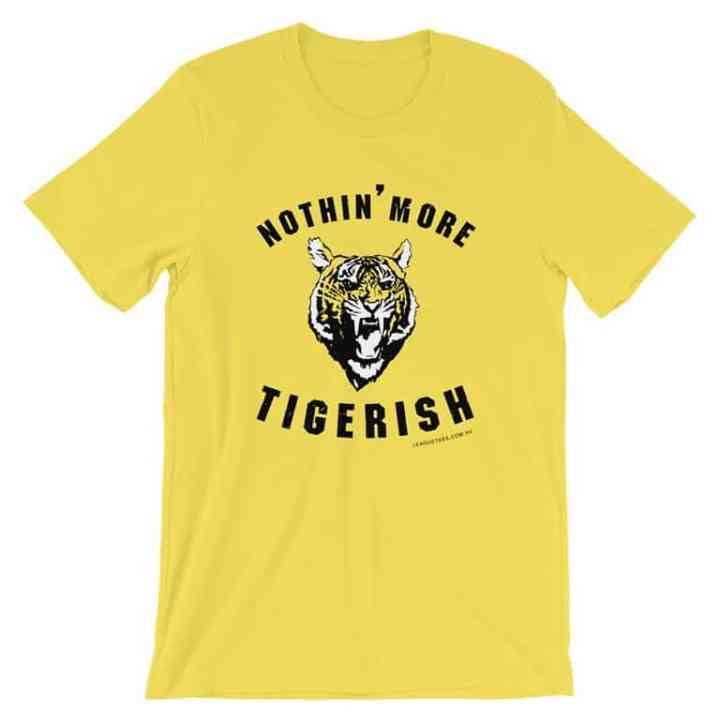 nothin more tigerish yellow vintage tshirt