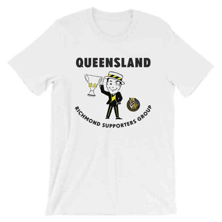 Richmond Tigers Queensland Supporters football tshirt white