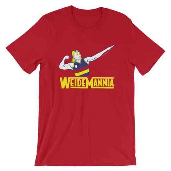 Weidemannia red retro tshirt