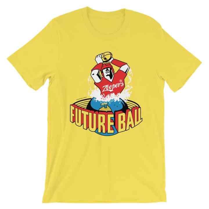 future ball retro footy tshirt yellow