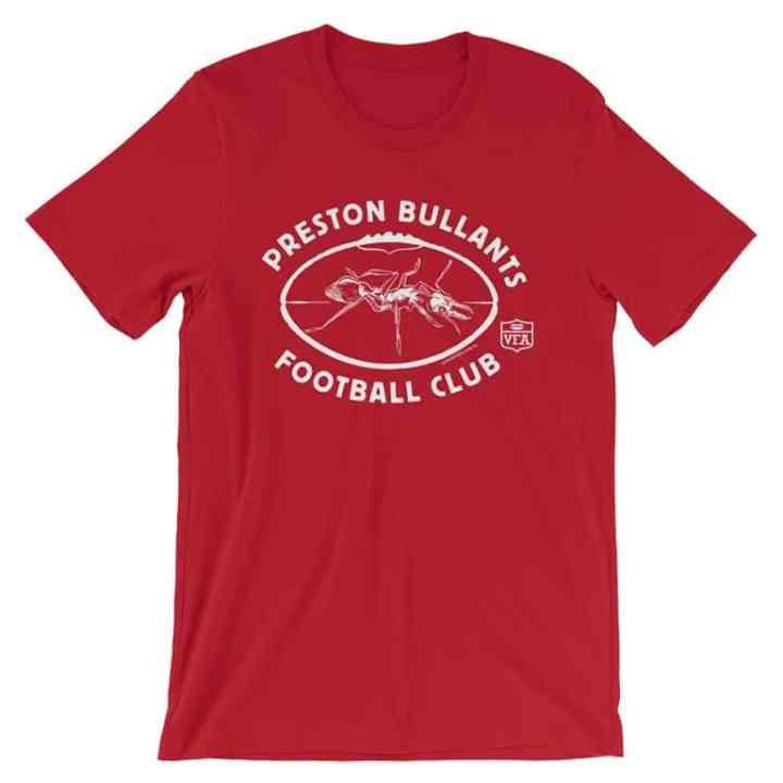 preston football club vintage tshirt red