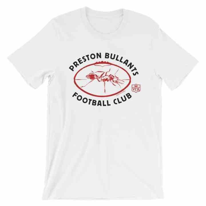 preston football club vintage tshirt white