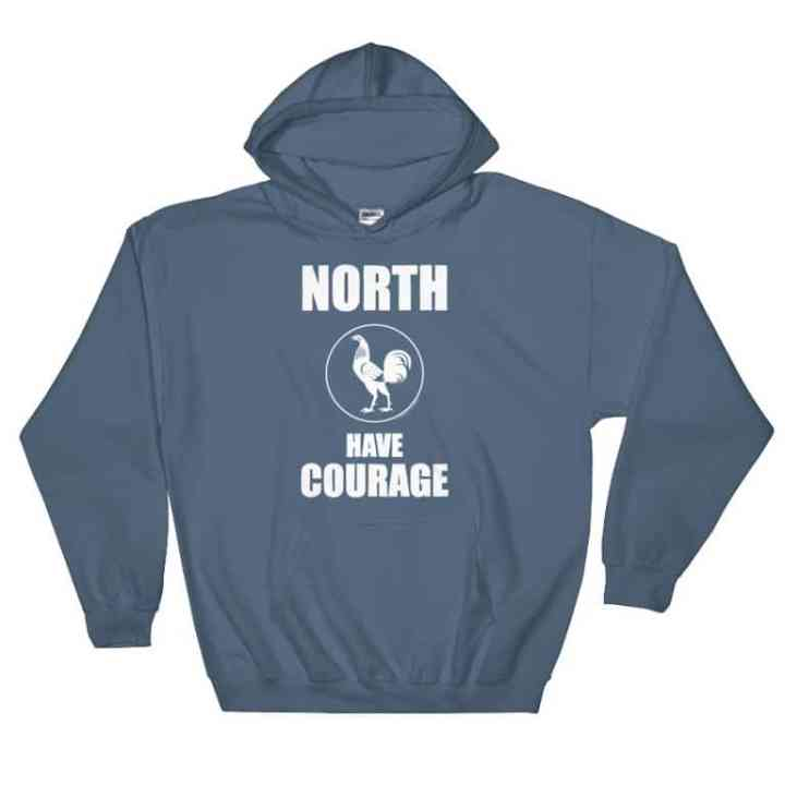 north has courage retro footy hoodie