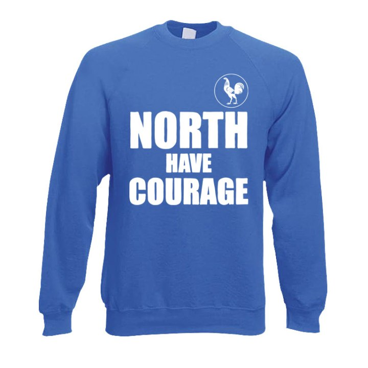 north have courage football sweater