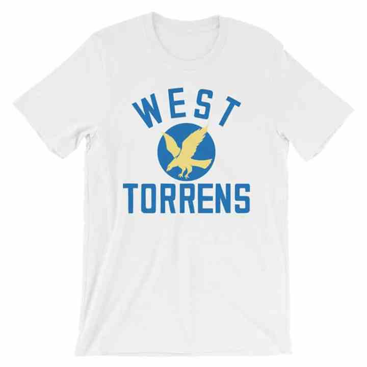 west torrens footy tees white