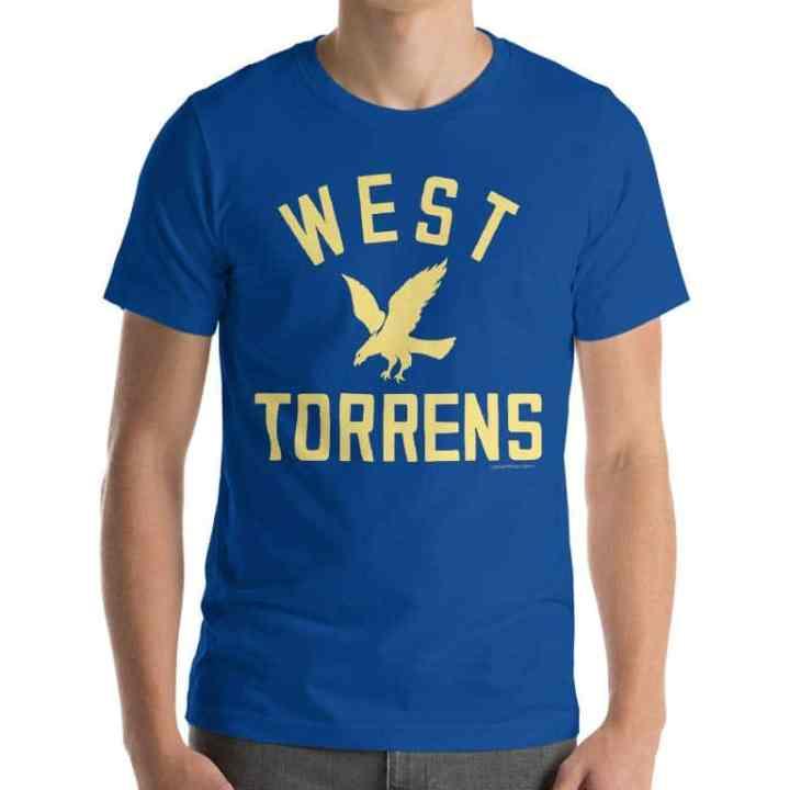 west torrens retro footy shirt