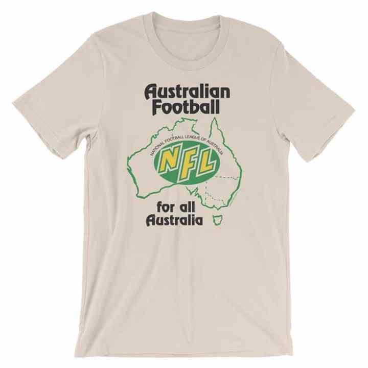 NFL australia retro footy tee cream
