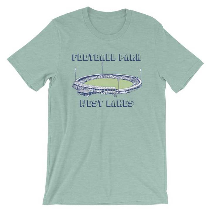 football park adelaide retro footy tees blue