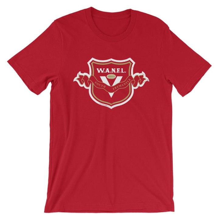 south fremantle football club t-shirt red