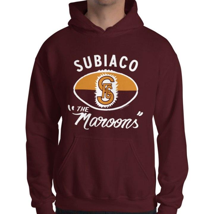 Subiaco retro footy hoodie