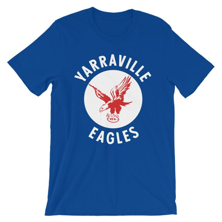 Yarraville Eagles VFA retro footy t-shirt blue