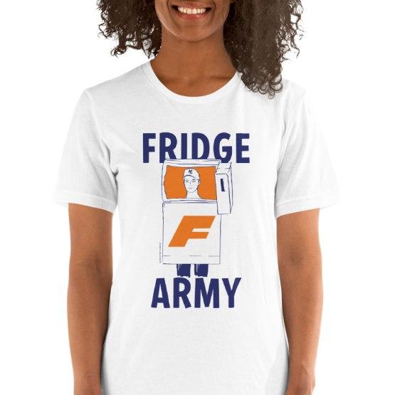 fridge army womens footy t-shirt
