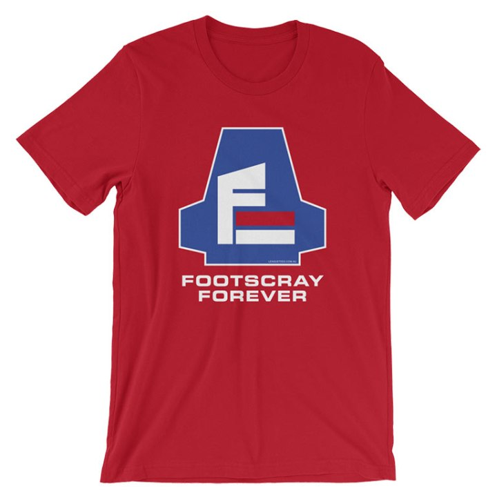 footscray forever football shirt red