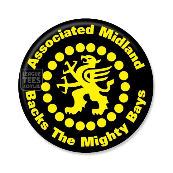 glennelg associated midland vintage badge