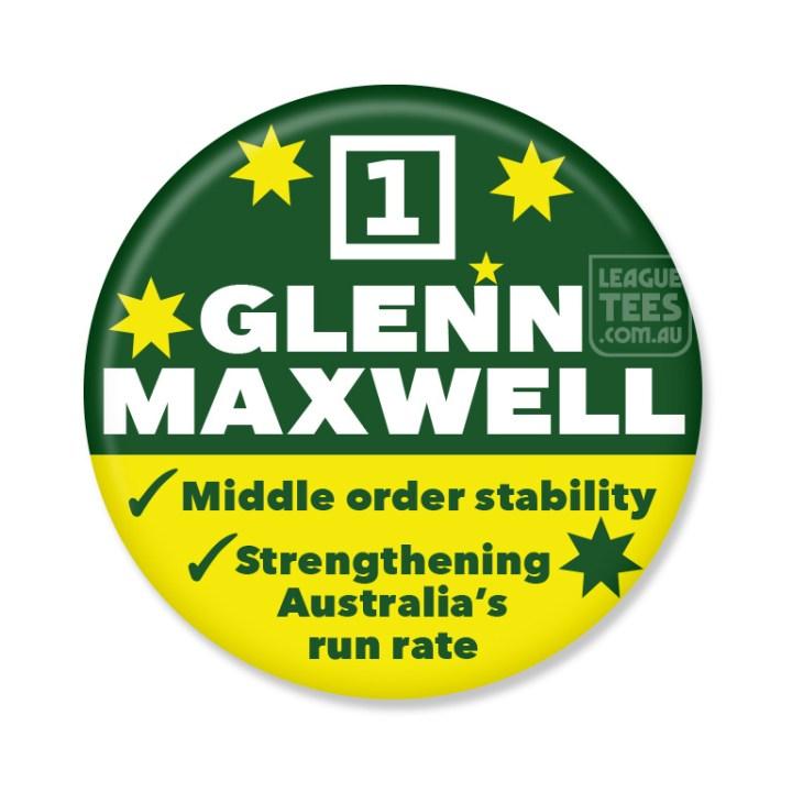 glenn maxwell badge