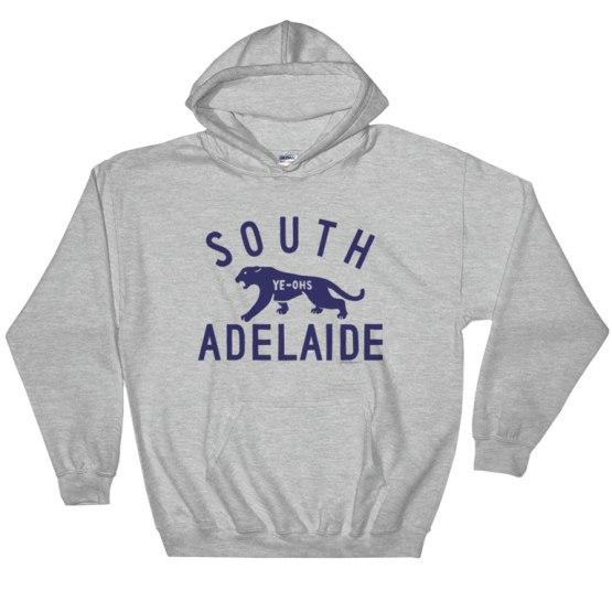 south adelaide hoodie grey