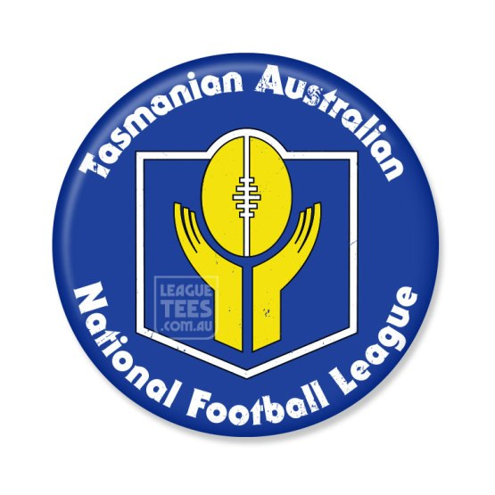tasmanian football vintage badge