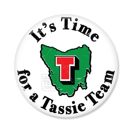 time for a tassie team vintage badge