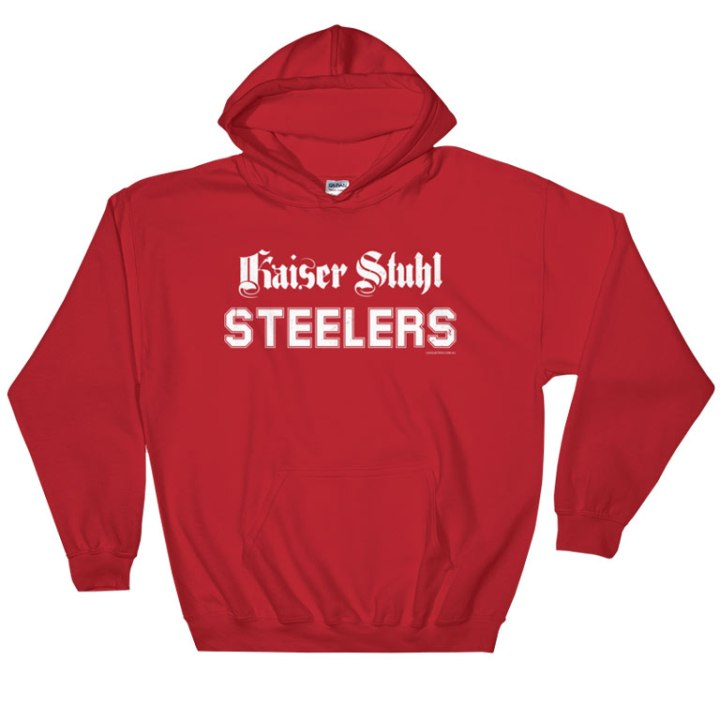 kaiser stuhl steelers retro rugby league hoodie