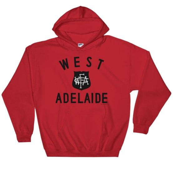 west adelaide footy hoodie red