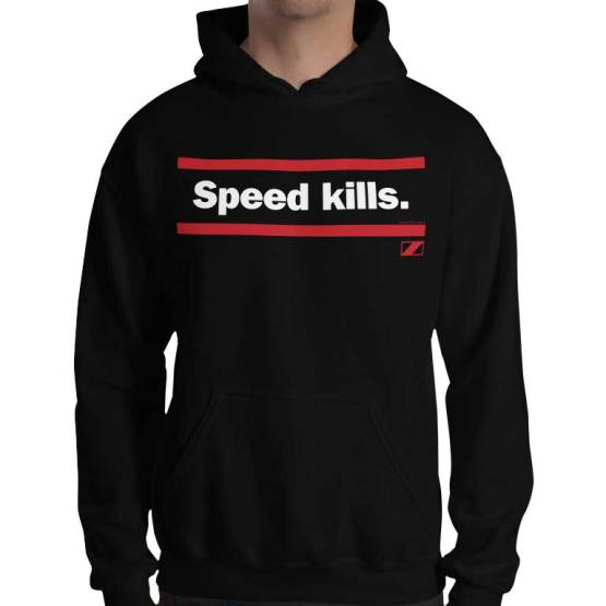 speed kills retro footy hoodie