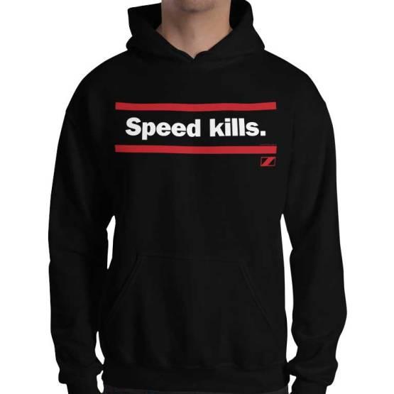 speed kills retro footy hoodie