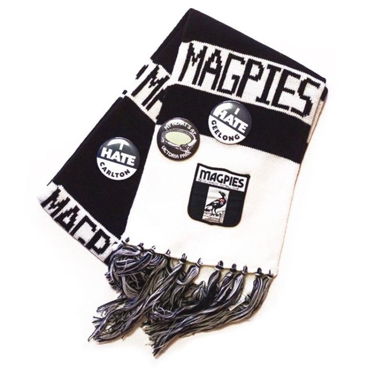 collingwood afl scarf