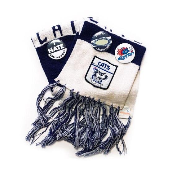 geelong afl scarf