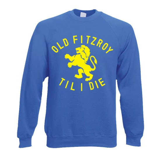 old fitzroy football sweater blue
