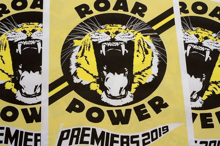 tigers 2019 premiership poster