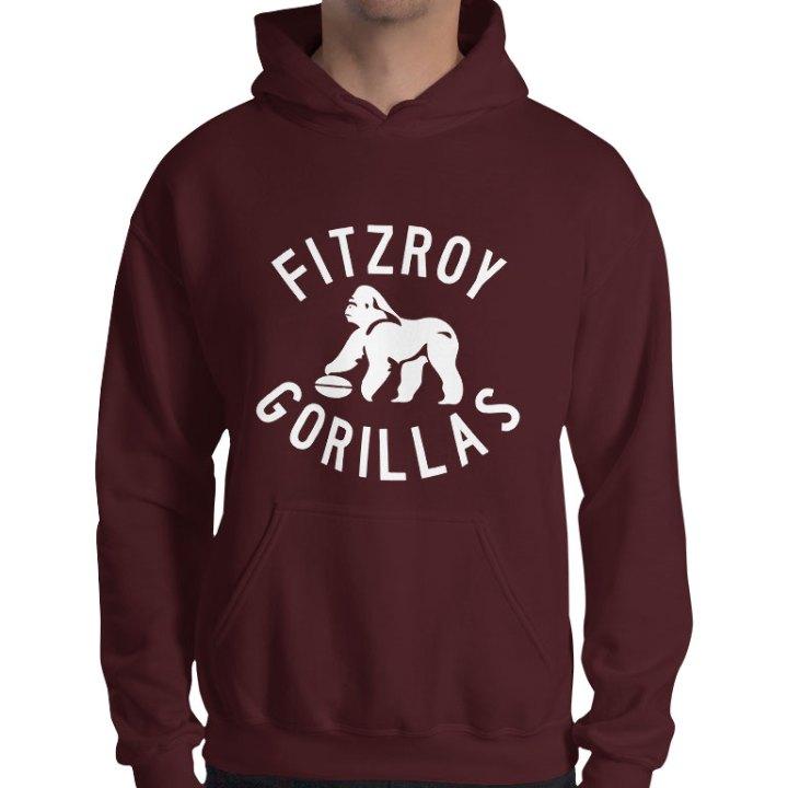 fitzroy gorillas retro hoodie