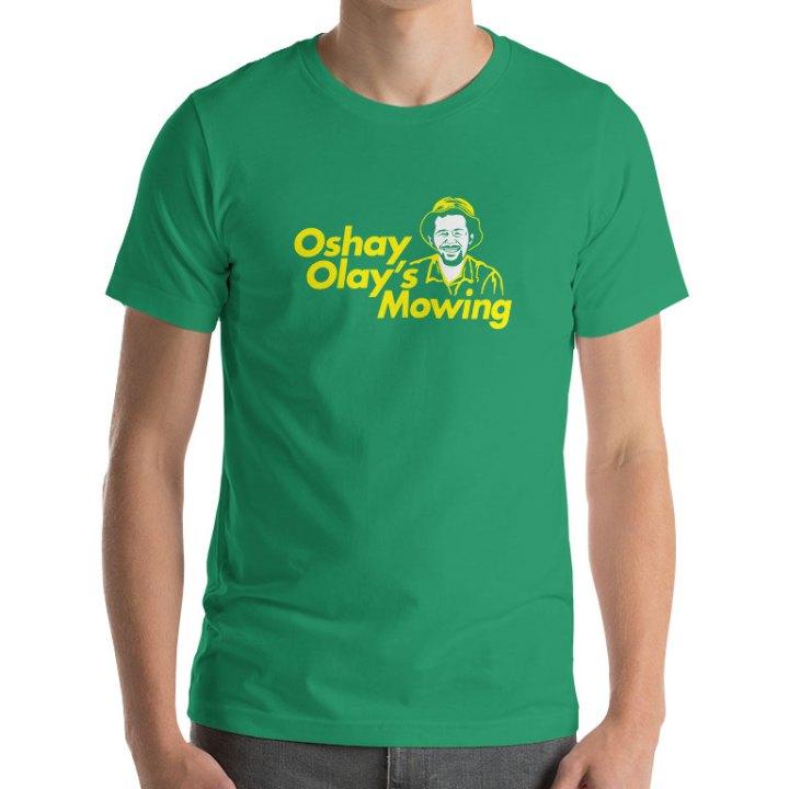 josh aloiai mowing shirt