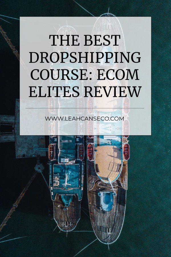 Th best dropshipping course: Ecom Elites revie #dropshipping #ecom #onlinestore #shopify