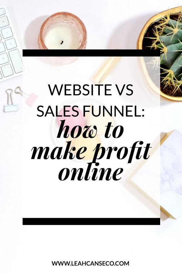 website vs sales funnel: how to make profit online