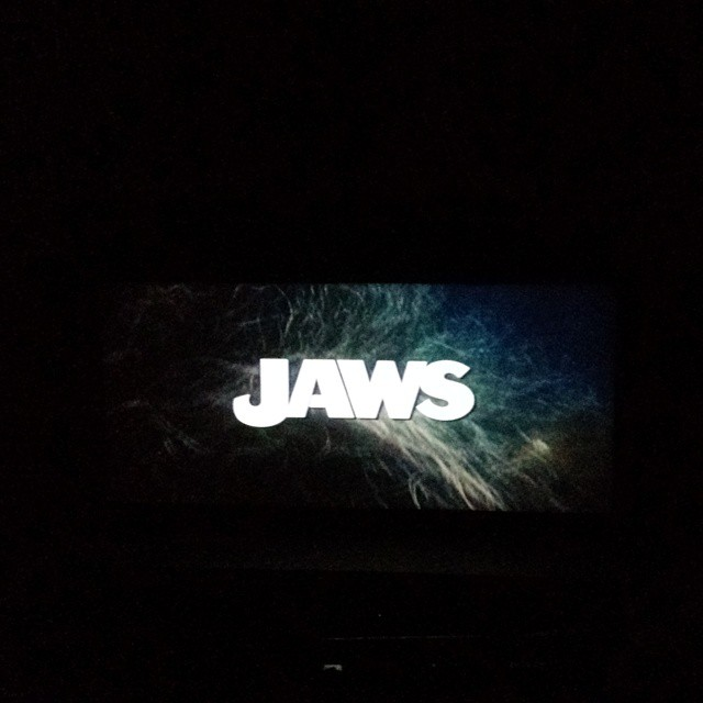 """We're gonna need a bigger boat."" First summer movie classic at The Paramount Theatre and first time seeing Jaws!"