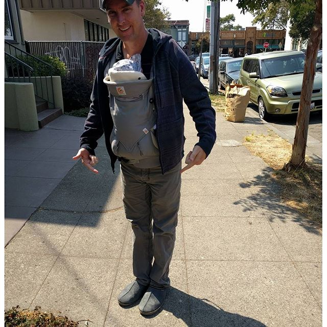 Baby brain gets dads too...@tedcurran went for a walk in his slippers this afternoon.