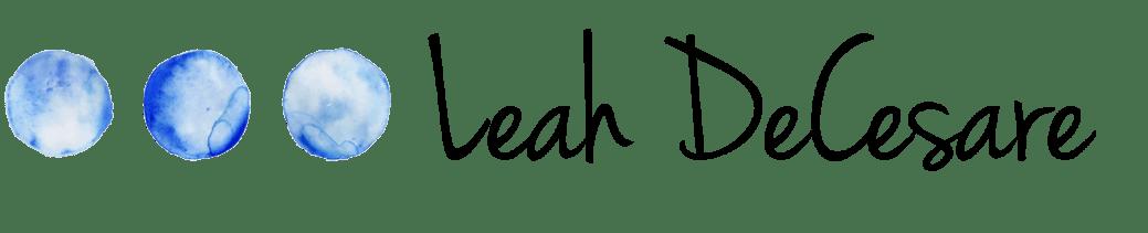 Leah DeCesare logo | leahdecesare.com