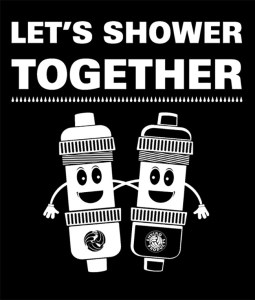 Lets Shower Together #ShowerWithAFriendDay Logo | leahdecesare.com