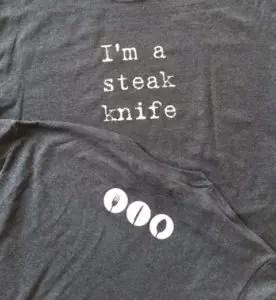 I'm a steak knife T-shirt | leahdecesare.com