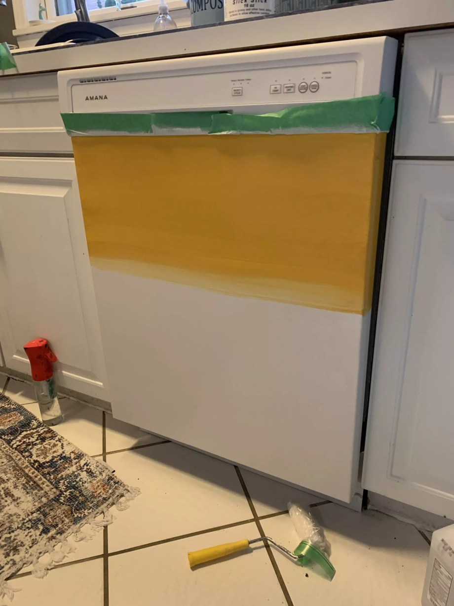How to paint kitchen appliances