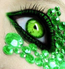 Jealousy Green eyes with green jewels