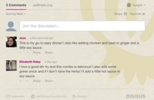 Comments on Recipes